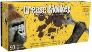 Grease Monkey 8.0mil nitrile gloves - carolina laboratories vancouver