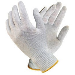 fabric cotton string knit work gloves - carolina lab