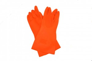 latex gloves - orange heavy weight