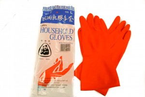 latex gloves - Panda Household Flock Lined (4)