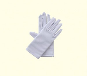 white cotton fabric gloves - carolina laboratories