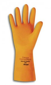 latex gloves - orange heavyweight